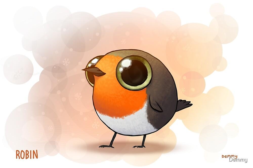 Cute Fat Robin by Demmy