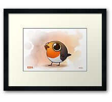 Cute Fat Robin Framed Print