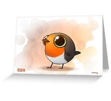 Cute Fat Robin Greeting Card