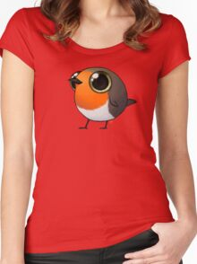 Cute Fat Robin Women's Fitted Scoop T-Shirt