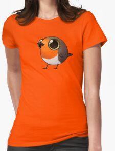 Cute Fat Robin Womens Fitted T-Shirt
