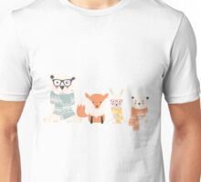 Christmas animal pattern, 001 Unisex T-Shirt
