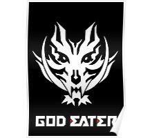 God Eater 2 Rage Burst Logo and Text (White Version) Poster
