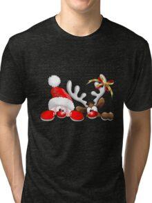 Funny Christmas Santa Tri-blend T-Shirt
