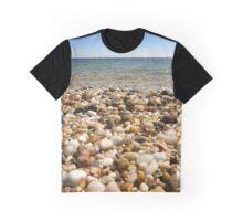 Beach Pebbles, Orient Point, Long Island, New York Graphic T-Shirt