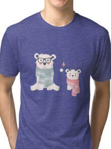 Christmas animal pattern, 003 Tri-blend T-Shirt
