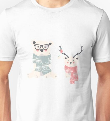 Christmas animal pattern, 003 Unisex T-Shirt