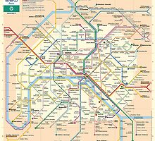 Paris Metro Map by robotface