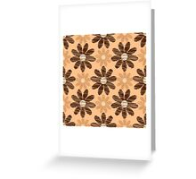 Scribble flower pattern graphic design Greeting Card
