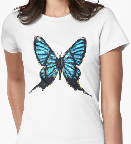 Rebirth Butterfly Cut Womens Fitted T-Shirt