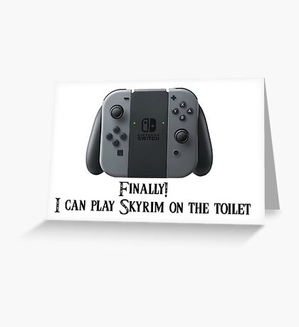 The Endless Possibilities of the Nintendo Switch Greeting Card