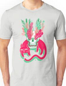 Cat Skull Garden Unisex T-Shirt
