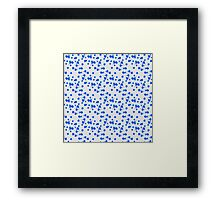Blot abstract color shape pattern Framed Print