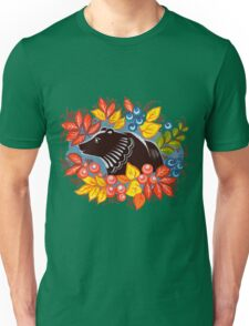 The Bear in autumn forest Unisex T-Shirt
