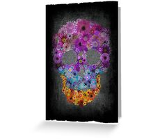 Sugar Skull Made Of Flowers Greeting Card