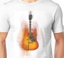 Exploding Gibson Guitar Unisex T-Shirt