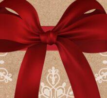 Elegant Merry Christmas Card Sticker