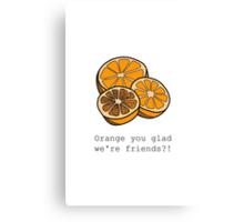 Orange you glad we're friends?! Canvas Print