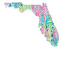 Florida Lilly Pulitzer Coral Photographic Print