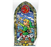 LoZ Bow and Arrow Stained Glass Poster