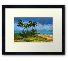 Coqueiros de Massarandupió (Palm Trees, Brazil) Framed Print