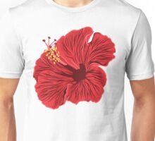 Red hibicus Unisex T-Shirt