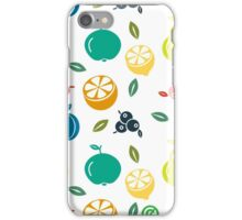 Colorful Fruit Illustration iPhone Case/Skin