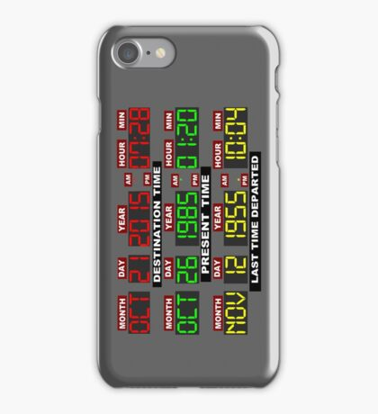 TIME CIRCUITS ON! iPhone Case/Skin