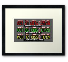 TIME CIRCUITS ON! Framed Print