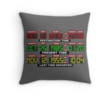 TIME CIRCUITS ON! Throw Pillow
