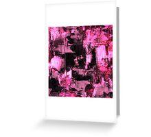 Harsh Pink Greeting Card