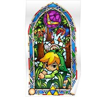 LoZ Boomerang Stained Glass Poster