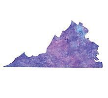 Virginia Purple Watercolor Photographic Print