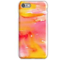 Orange, Yellow, and Pink Watercolor Brushstrokes iPhone Case/Skin