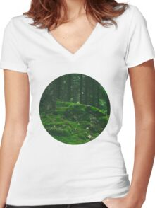 Mound of Moss Women's Fitted V-Neck T-Shirt