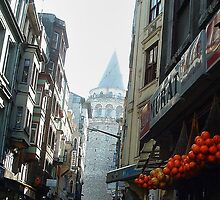 Istanbul: Looking Toward the Galata Tower  by Roger Passman