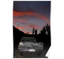 Chile Chico Sunset Poster
