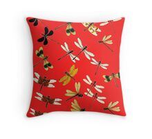 Dragonflies amazing vintage exclusive design! Throw Pillow