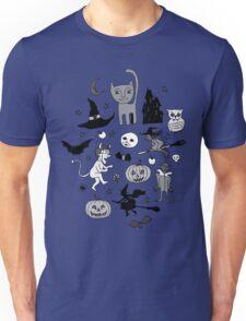 Retro Halloween - blue and grey Unisex T-Shirt