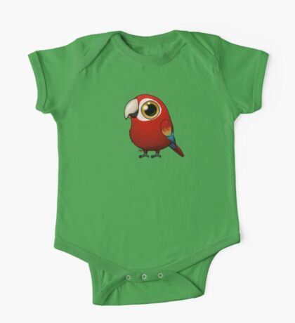 Cute Fat Macaw One Piece - Short Sleeve
