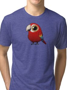 Cute Fat Macaw Tri-blend T-Shirt