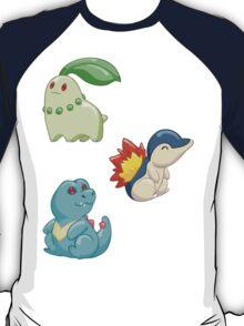 Pokemon Starters - Gen 2 T-Shirt