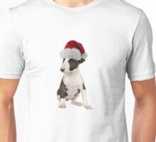 Bull Terrier Puppy Santa Claus Merry Christmas Unisex T-Shirt