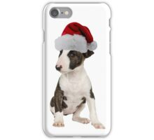 Bull Terrier Puppy Santa Claus Merry Christmas iPhone Case/Skin