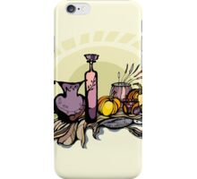 Still life with pumpkin, pear and grapes iPhone Case/Skin
