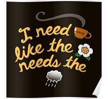 I need coffee Poster