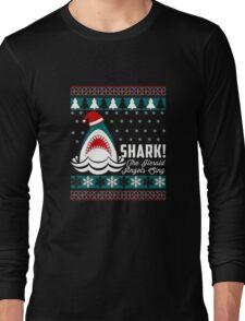 SHARK! THE ANGEL SING T-Shirt merry funny christmas Long Sleeve T-Shirt