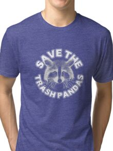 Save the Trash Pandas Raccoon Animal T-shirt Tri-blend T-Shirt