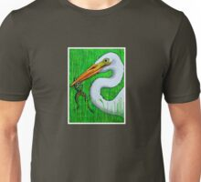 Egret with Frog Unisex T-Shirt