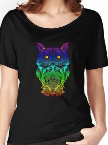 Owl Psychedelic Retro Hippie Hipster Style T Shirt Women's Relaxed Fit T-Shirt